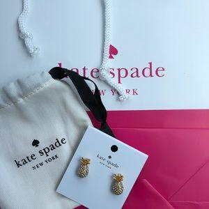 Kate Spade By The Pool Pineapple Earrings Studs